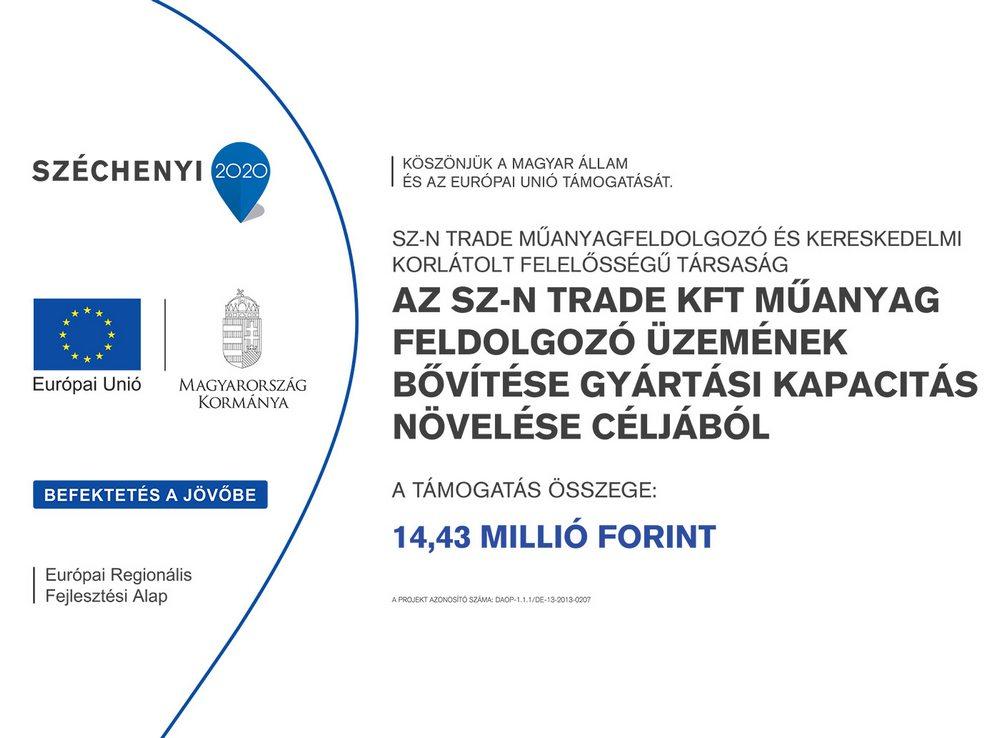 Az Sz-N Trade Kft. műanyag feldolgozó üzemének bővítése gyártási kapacitás növelése céljából