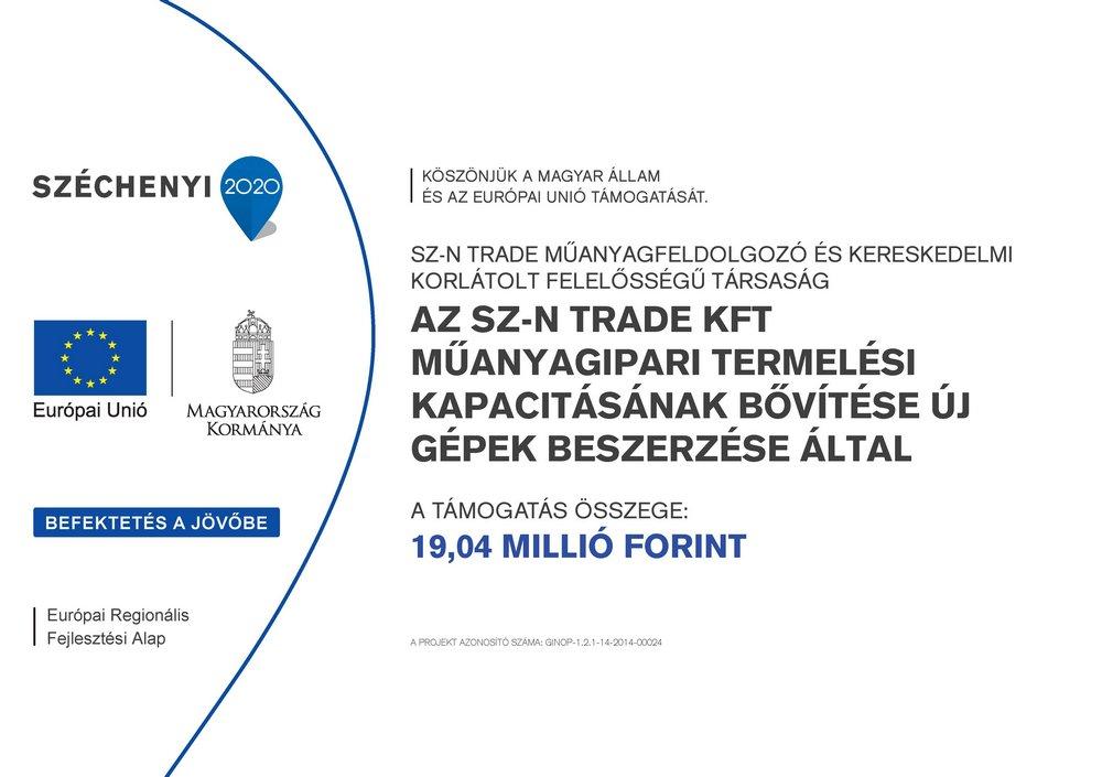 Az SZ-N TRADE KFT műanyagipari termelési kapacitásának bővítése új gépek beszerzése által