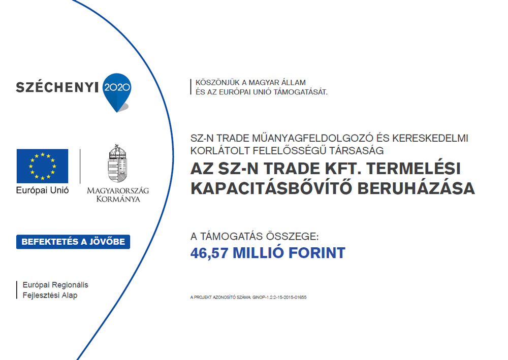 Az SZ-N Trade Kft. termelési kapacitásbővítő beruházása