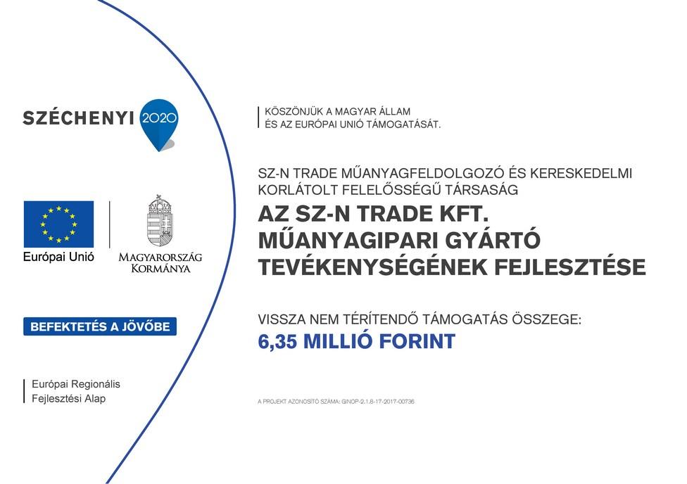 Az SZ-N Trade Kft. műanyagipari gyártó tevékenységének fejlesztése